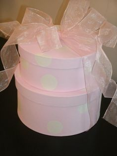 Painted Boxes with Satin Ribbon Bow by grannysmithsfarm on Etsy, $13.50