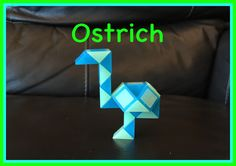 Smiggle Snake Puzzle (Rubik's Twist): How To Make An Ostrich... Step by ...