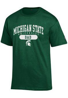 e3a4a7da4f3a4 Champion Michigan State Spartans Green Dad Short Sleeve T Shirt, Green,  100% COTTON, Size 2XL