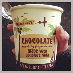 Trader Joe's makes two coconut milk ice creams. The strawberry flavor is good. But the chocolate flavor is really good. | 23 Vegan Trader Joe's Products You Must Try
