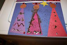 Cute 3 Kings Project- be good for mini doodlers at preschools Advent Calendar Activities, Craft Activities For Kids, Preschool Crafts, Nursery Activities, Preschool Winter, Bible Activities, Craft Ideas, Kindergarten Christmas Crafts, Christmas Activities