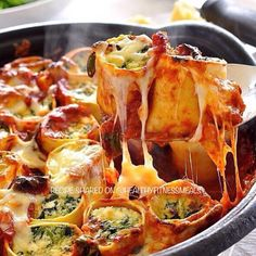 Baked Spinach & Ricotta Rotolo . Made by @recipe_tin. Please follow her @recipe_tin Source: recipetineats.com .