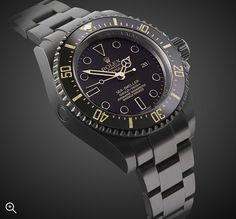 Titan Black DLC Rolex DeepSea: Oro