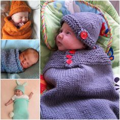 Knitted Baby Cocoon Collection