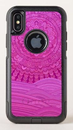 1107ea0699 Hot Pink Ocean Mandala OtterBox Commuter iPhone X Case for $71.75 #cases  #accessory #