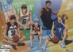 Kuroko no basuke (clear poster official Japan Kise Ryota KAIJO , Kuroko Tetsuya , Kagami Taiga SEIRIN , Midorima Shintarou SHUTOKU , Aomine Daiki TOO GAKUEN)