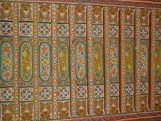 Painted ceiling at Jabrin Castle, Oman