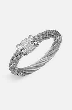 Charriol 'Classique' Small Diamond Stackable Ring available at #Nordstrom