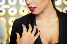 Singer Rochelle Humes sporting her PANDORA rings. #PANDORAstyle #PANDORAcelebrity #PANDORAwishes