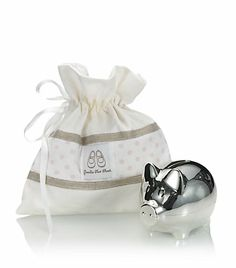 Harrods silver plated piggy bank