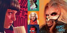 De 'Mad Max' a 'Pulp Fiction': artista cria versões alternativas para cartazes de filmes