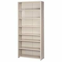"Closed Shelving Add-On, 8 Traditional Shelves, 36""Wx24""Dx84""H Putty by LYON WORKSPACE PRODUCTS. $307.95. Lyon Closed Shelving Add-On, 8 Traditional Shelves, 36""Wx24""Dx84""H Putty Sturdy construction and easy installation make offset angle shelving ideal for applications calling for stand-alone sectionsThirteen-gauge uprights, with medium gauge on 36"" Box W shelves and heavy gauge on 48"" Box W shelves, deliver capacities up to 600 lbs per shelfOpen sections are great for cart..."