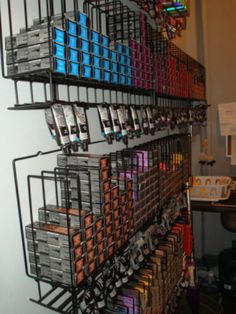 Tube Color Rack by Salon Interiors, but ammo rack potential?  Probably too heavy...