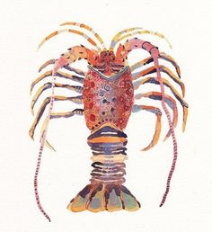 lobster water color