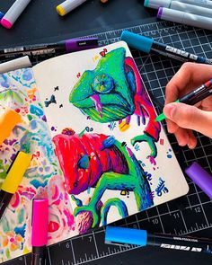 Behind The Scenes By art_quil Cute Doodle Art, Doodle Art Drawing, Cute Doodles, Posca Art, Bullet Journal Books, Samurai Art, Sketch Painting, Marker Art, Simple Art