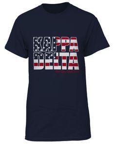 Kappa Delta American Flag Tee by Adam Block Design | Custom Greek Apparel & Sorority Clothes | www.adamblockdesign.com | orders@adamblockdesign.com