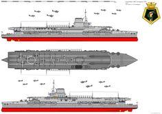 HMS Courageous - Glorious class Aircraft Carrier