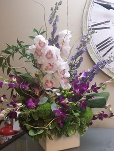 Flowers I did for Wynnona Judd- Orchids