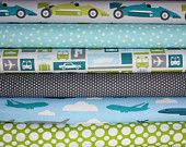 Boy Toys quilt or craft fabric bundle by Print and Pattern for Robert Kaufman- Fat Quarter Bundle, 6 total