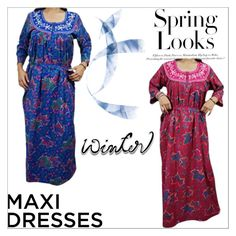 """""""WINTER MAXI DRESS SLEEPWEAR GOWN"""" by lavanyas-trendzs ❤ liked on Polyvore featuring H&M"""
