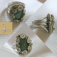 Wire wrap ring - this link takes you to a site that teaches how to make various kinds of jewelery. Wire Jewelry Making, Jewelry Making Tutorials, Metal Jewelry, Beaded Jewelry, Handmade Jewelry, Free Tutorials, Wire Crafts, Jewelry Crafts, Crochet Metal
