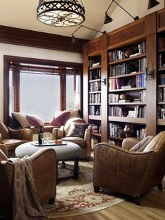 A home library in the historic Percival Thompson House, built in 1910