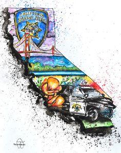 California Highway Patrol Art Print