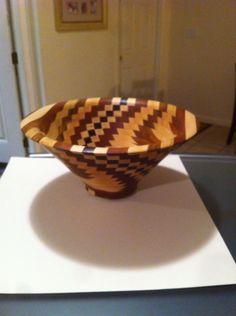 Vase maple and mahogany Woodturning, Decorative Bowls, Vase, Home Decor, Wood Turning, Decoration Home, Room Decor, Turning, Vases