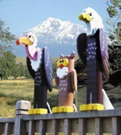 19-W2643 - Post Birds of Prey Woodworking Plan