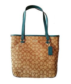 Coach Outline Signature Zip top Tote Bag >>> Check out this great product.