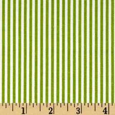 Wide Premier Prints Desoto Stripe Chartreuse/White Fabric By The Yard