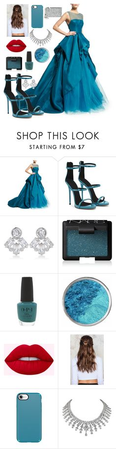 """""""Untitled #215"""" by dasiy89 on Polyvore featuring Monique Lhuillier, Giuseppe Zanotti, CZ by Kenneth Jay Lane, NARS Cosmetics, OPI, NA-KD, Speck and Tory Burch"""