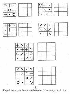 Lernstübchen: Muster übertragen (1) Kindergarten Learning, Kindergarten Math Worksheets, Preschool Worksheets, Occupational Therapy Activities, Brain Activities, Preschool Activities, Visual Perception Activities, Free Printable Puzzles, Math Patterns