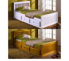 3ft Single Mission Storage Drawers Childrens Kids Bed White Pine Mattress Option in Home, Furniture & DIY, Furniture, Beds & Mattresses | eBay!