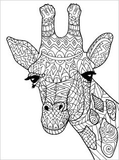 giraffe head coloring pages - Cute Giraffe Coloring Pages Giraffe is a cute animal who lives in Sabana in Africa. Your children surely would like to color our collection of giraffe image to color here. Giraffe Coloring Pages, People Coloring Pages, Free Adult Coloring Pages, Cute Coloring Pages, Flower Coloring Pages, Mandala Coloring Pages, Coloring Books, Free Coloring, Coloring Sheets