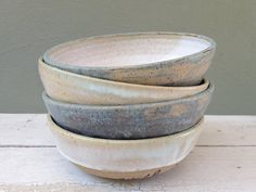 Set of Four,  Rustic Pottery Bowl, Ceramic Bowl, wheel thrown bowl, Stoneware Bowl, Homemade with love, Cereal bowls, Small serving bowls