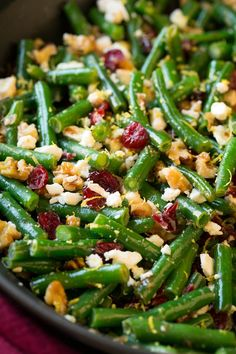 Lemon Butter Green Beans with Cranberries Walnuts and Feta – Cooking Classy – Beans Side Dish Recipes, Vegetable Recipes, Vegetarian Recipes, Healthy Recipes, Vegetable Salad, Beans Vegetable, Dinner Recipes, Veggie Side Dishes, Vegetable Sides