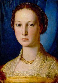 Angelo Bronzino, Angelo di Cosimo di Mariano (1503-1572) —  Portrait of Costanza da Sommaia, 1540   :  The Detroit Institute of Arts, Detroit,  Michigan.  USA    (590x850)