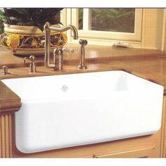Rohl RC3018 Shaws Original Single Bowl Fireclay Apron Kitchen Sink
