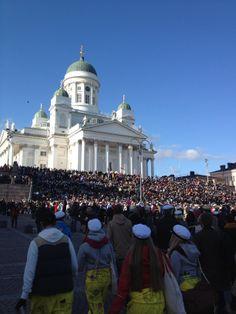 Vappu Festival in Finland #Vappu #Helsinki #Senaatintori