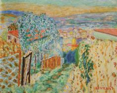 Pierre Bonnard, Le Raidillon au Cannet, 1945, huile sur toile, 60/73 cm, États-Unis, collection particulière.