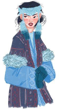 Kazakh girls in traditional folk clothes on Behance Character Concept, Character Art, Concept Art, Indigenous Art, Character Design Inspiration, Aesthetic Art, Cute Art, Art Girl, Art Reference
