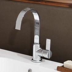 Treos Series 195 basin mixer with closable waste valve