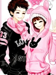 Pix For Cute Anime Couple Wallpapers Mobile Chinthya Dyana Korea Gif And Jpg More