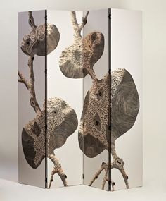 Zoé Ouvrier - Artist - Engraved plywood