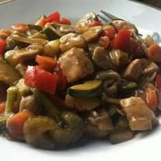 Stir-Fried Vegetables with Chicken or Pork Allrecipes.com