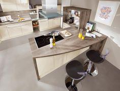 Essplatz Küche Hochglanz Creme Norina 3648