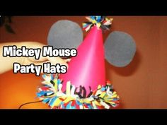How to make Birthday hats Mickey Mouse Theme (EASY TUTORIAL). Making this for some one at my school.(my teacher asked me to make an embaressing hat. i know its not embaressing but for an 18 year old boy it will be so...)