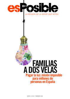 revista esPosible, pobreza energética