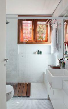house beatriz by gil mello Happiness Home By Gil Mello interior design Laundry In Bathroom, My Ideal Home, Interior, Mini Loft, Pretty Bathrooms, Small Bathroom, Amazing Bathrooms, Sustainable Home, Bathroom Decor